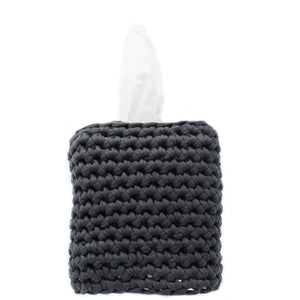 hand knitted cotton tissue box cover - 100% cotton