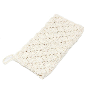 Hand crocheted wash cloth