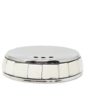bone & stainless steel soap dish