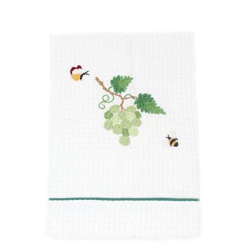 waffle weave kitchen towel - grapes