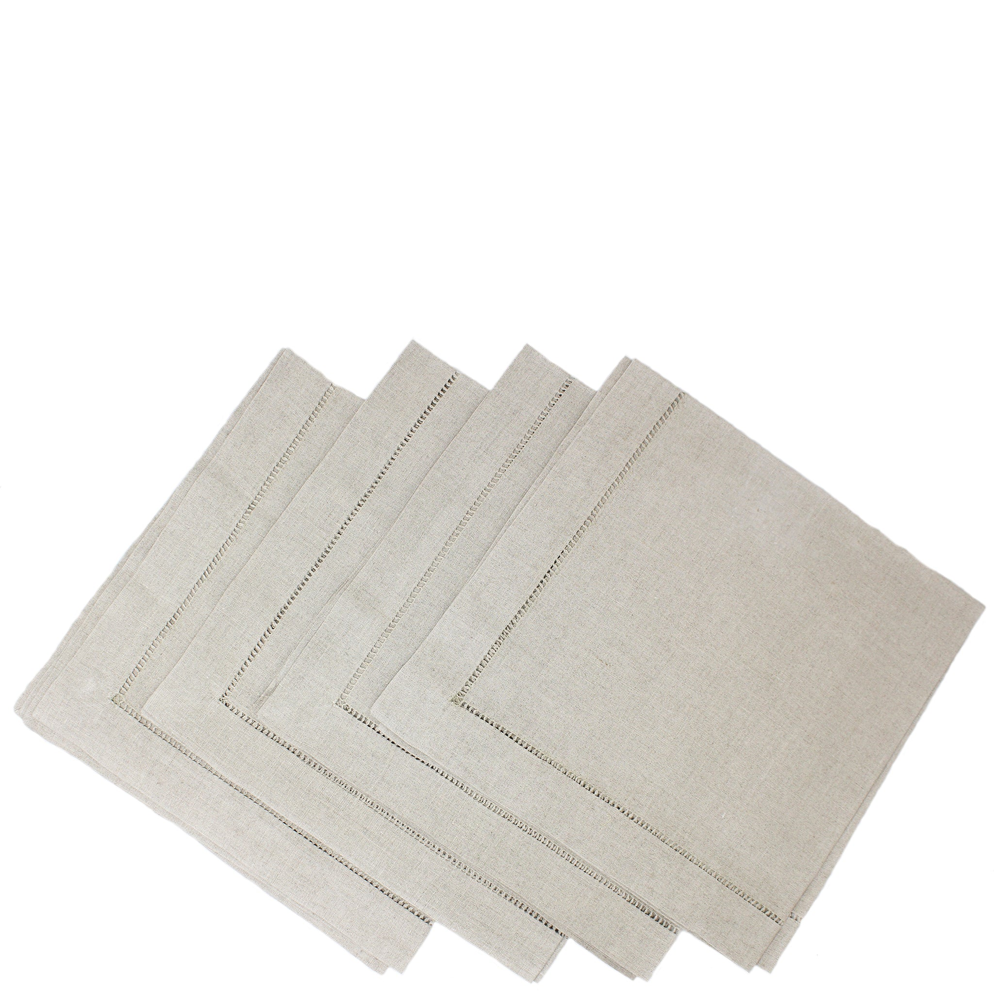 pure linen napkins - ladder stitch natural