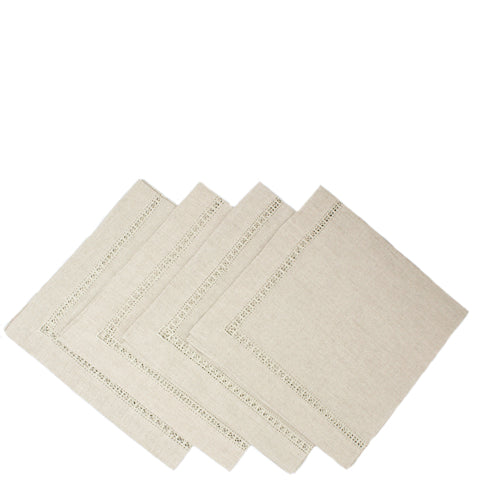 pure linen napkins - jour natural