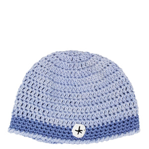 hand crocheted baby beanie - light blue