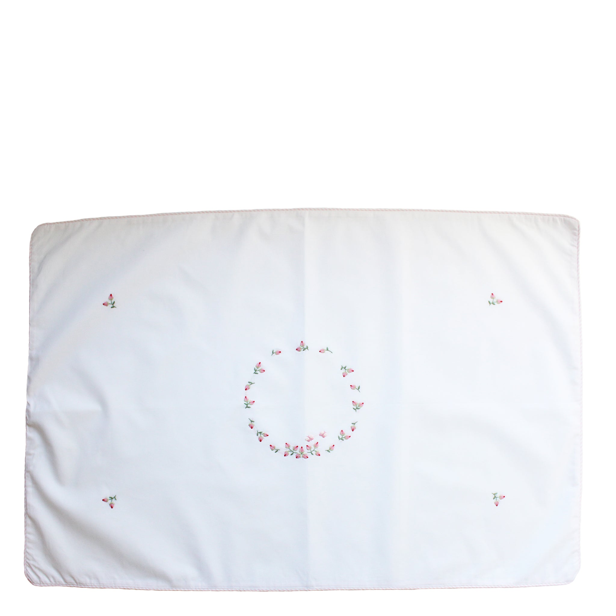 standard pillowcase rosebud