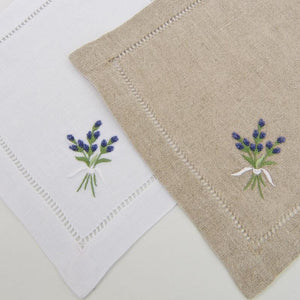 gordonsbury hand embroidered linene cocktail napkin