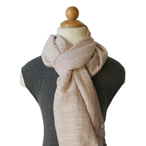lightweight cotton & silk scarf - pearl