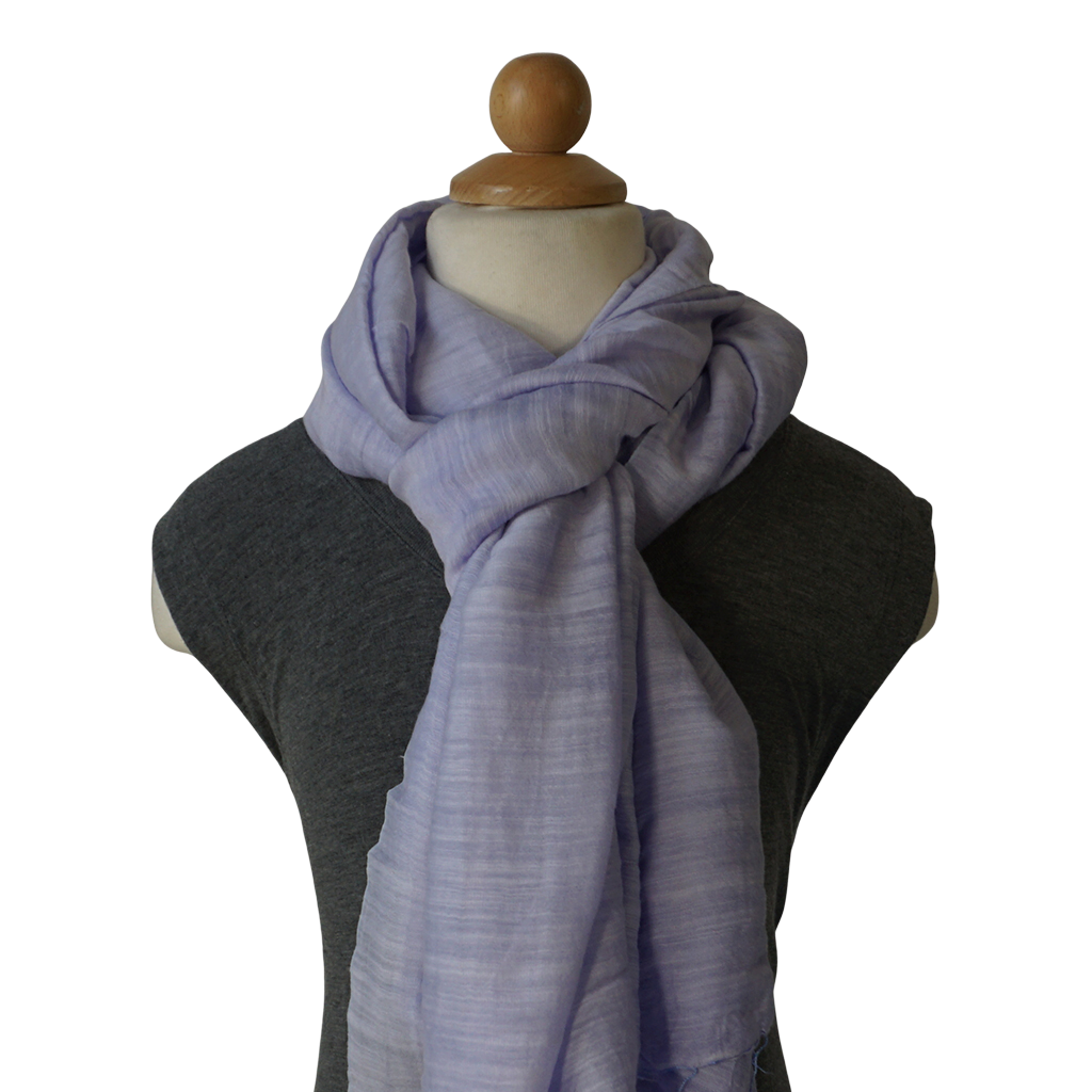 lightweight cotton & silk scarf - moonstone