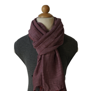 lightweight cotton & silk scarf - purple