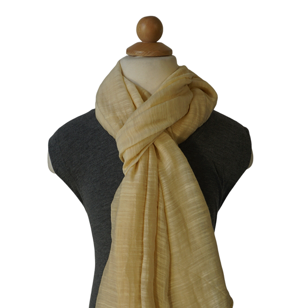 lightweight cotton & silk scarf - cream