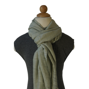 lightweight cotton & silk scarf - teal