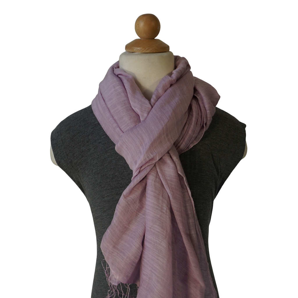 lightweight cotton & silk scarf - frozen lilac