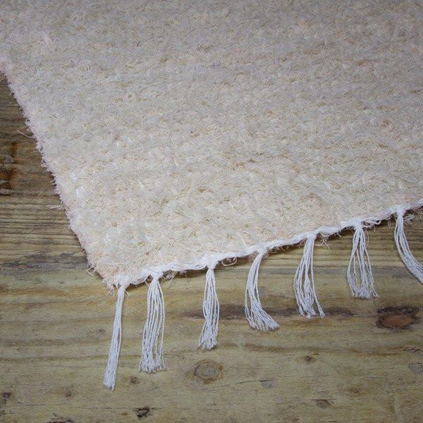natural handwoven cotton  bathmat