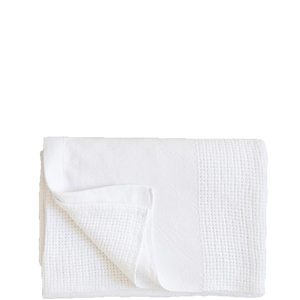 white organic baby blanket handwoven with 100% cotton