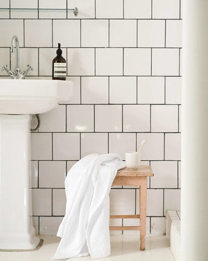 mungo interlace towel - white