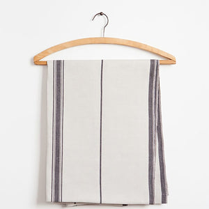 mungo linen table runner - navy