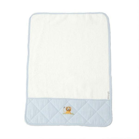 baby terry burp cloth on safari blue