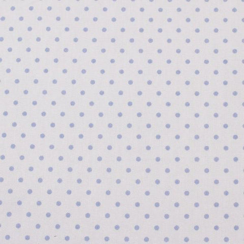 unembroidered fabric - blue polka dot