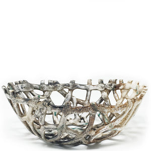 raku lattice bowl