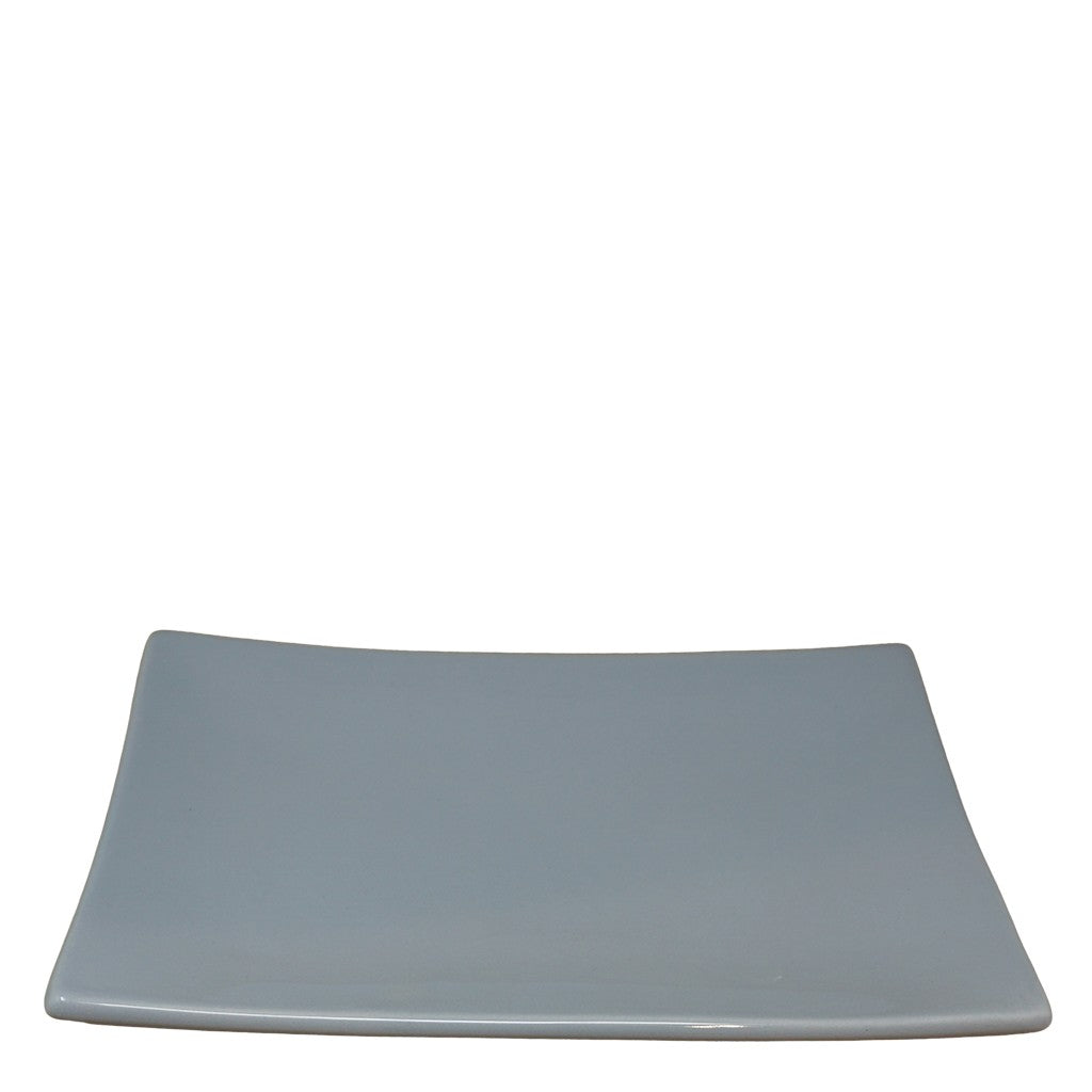 rectangular ceramic snack platter - french blue