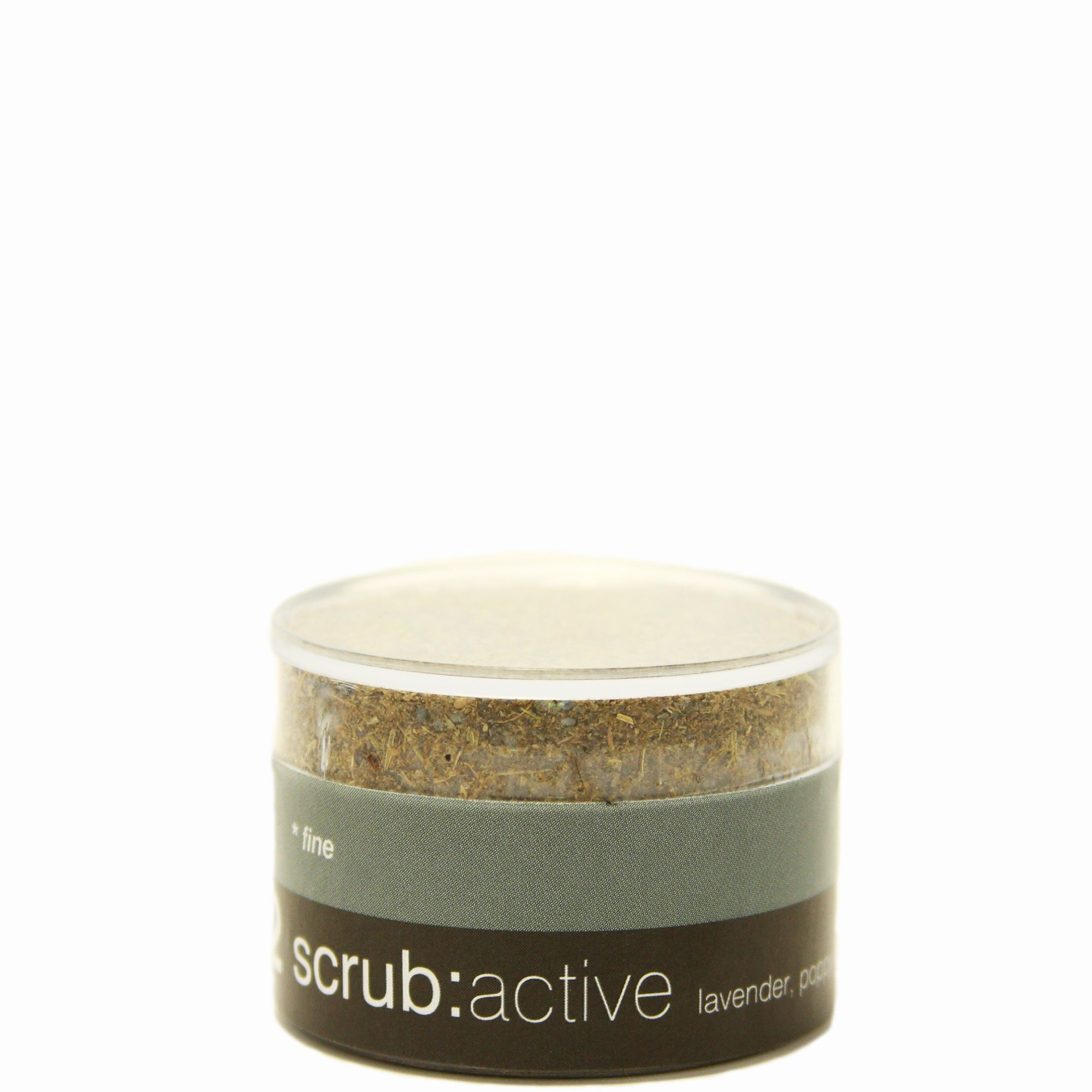 lavender, poppy seed and tea tree scrub active