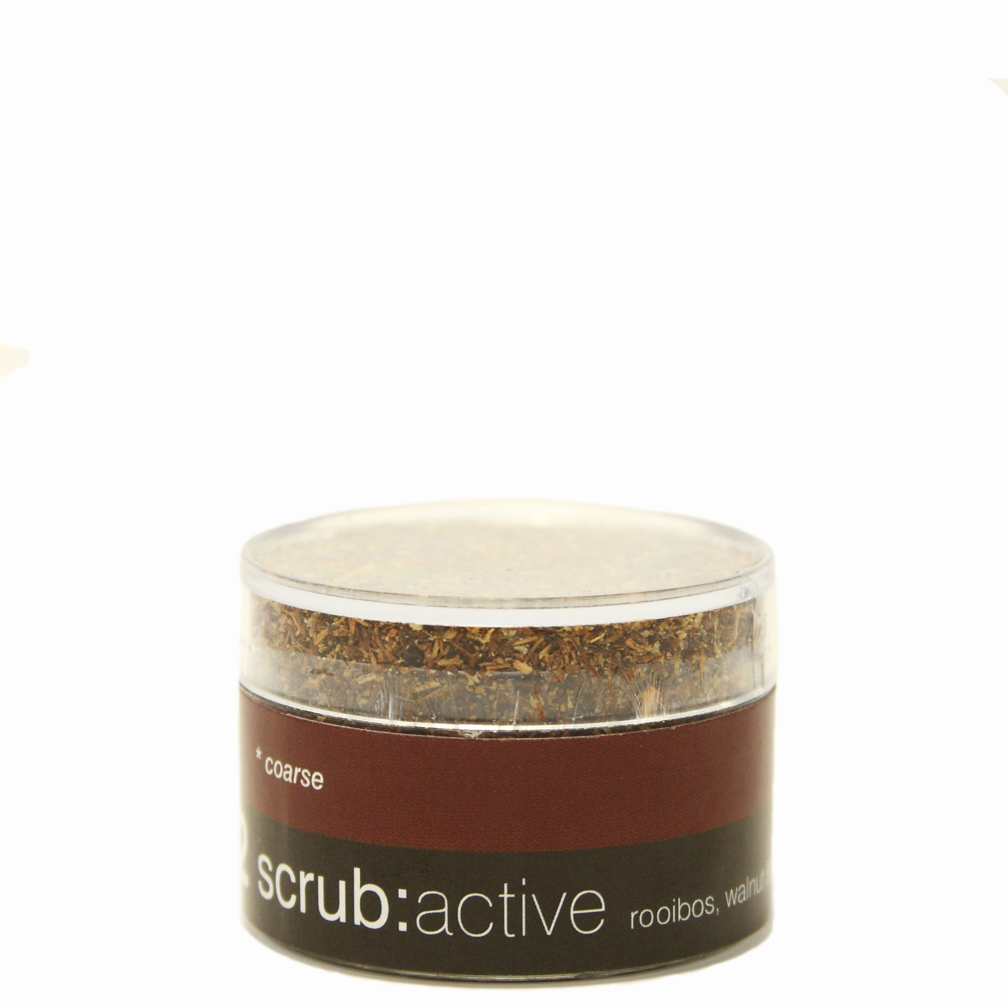 rooibos, walnut and rosehip scrub active