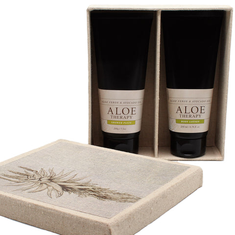 aloe shower paste and lotion gift set