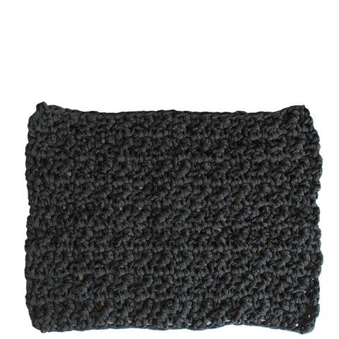 hand knit bathmat from tarn yarn