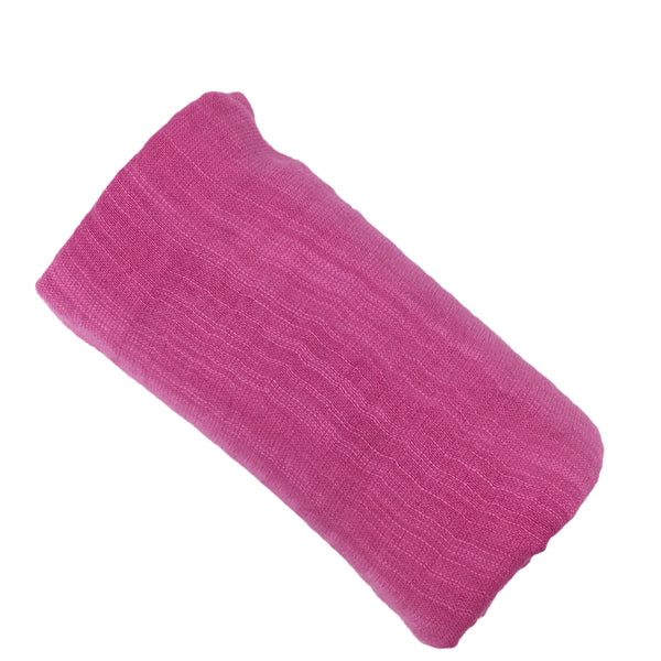 fuschia cotton and silk scarf