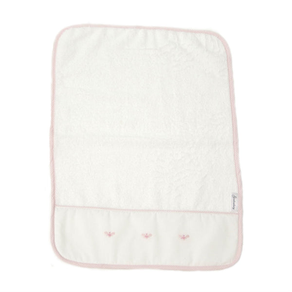 baby terry burp cloth baby bee pink