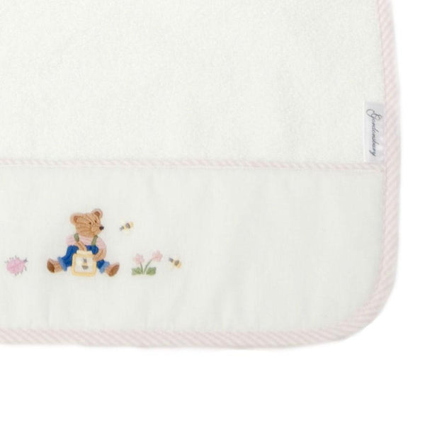 baby terry burp cloth teddy bear pink