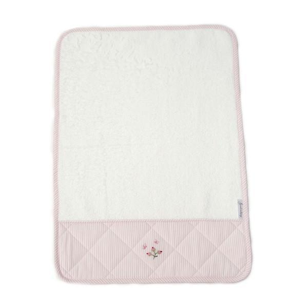 burp cloth rosebud