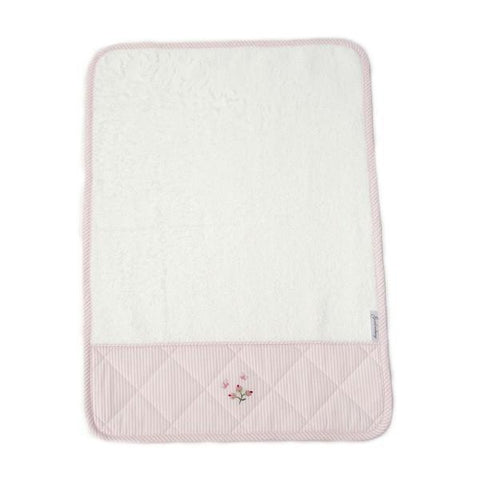 baby terry burp cloth rosebud pink
