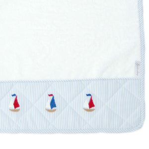 burp cloth sailing away