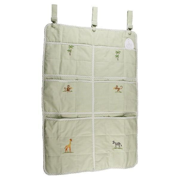 crib organizer on safari green