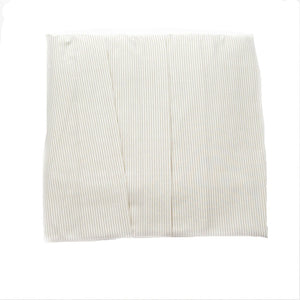 beige stripe crib dust ruffle