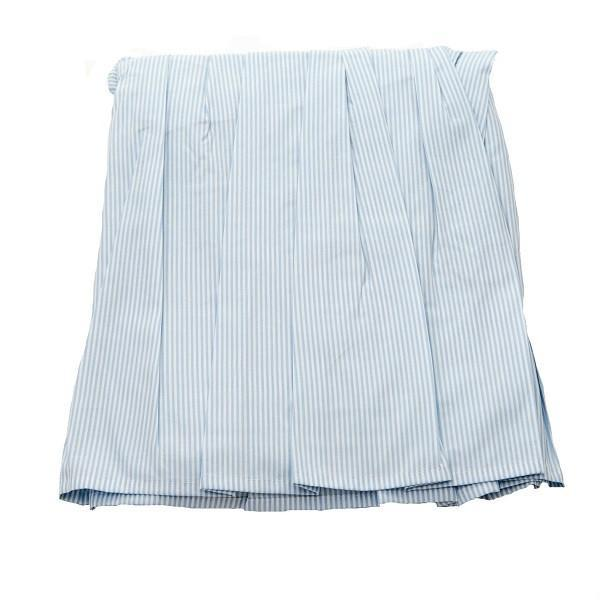 crib dust ruffle blue stripe
