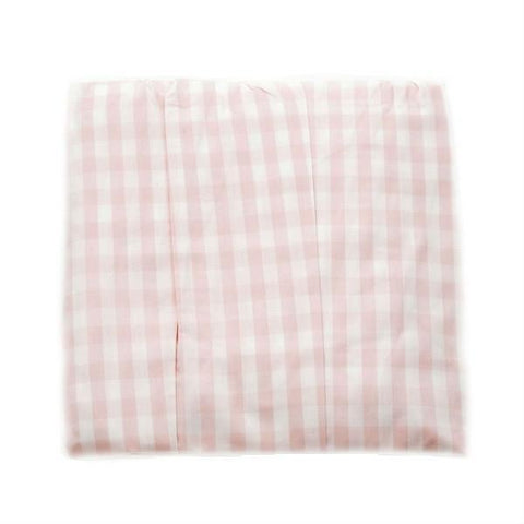 pink check crib dust ruffle
