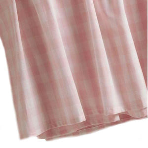 crib dust ruffle pink check
