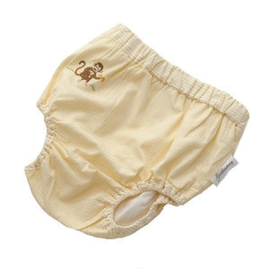 diaper cover embroidered on safari yellow 6 - 12 months