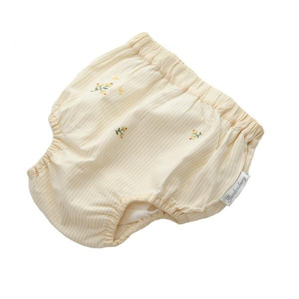 diaper cover embroidered rosebud yellow 6 - 12 months