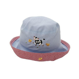 toddler sun hat little barn blue 6-12 mnths