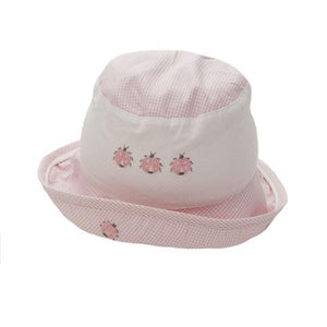 toddler sun hat ladybird pink 6-12 mnths