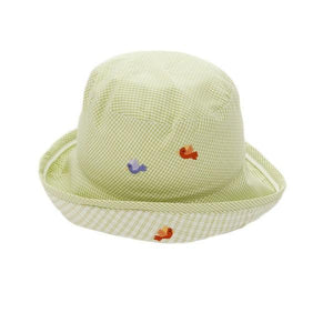 toddler sun hat monkey business green boy 6-12 mnths