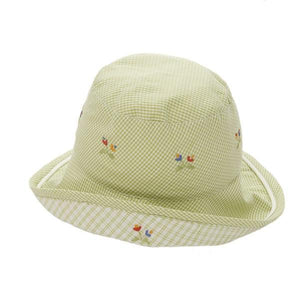 toddler sun hat monkey business green girl 6-12 mnths