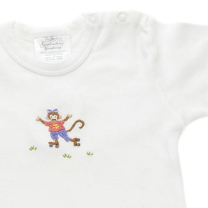 monkey business green girl t-shirt 6-12 months