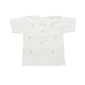 toddler t-shirt rosebud yellow 6-12 mths