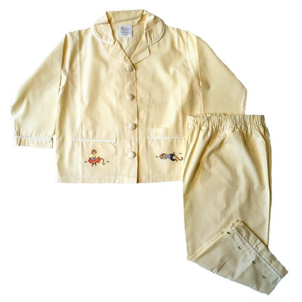 kids sleep set monkey business yellow