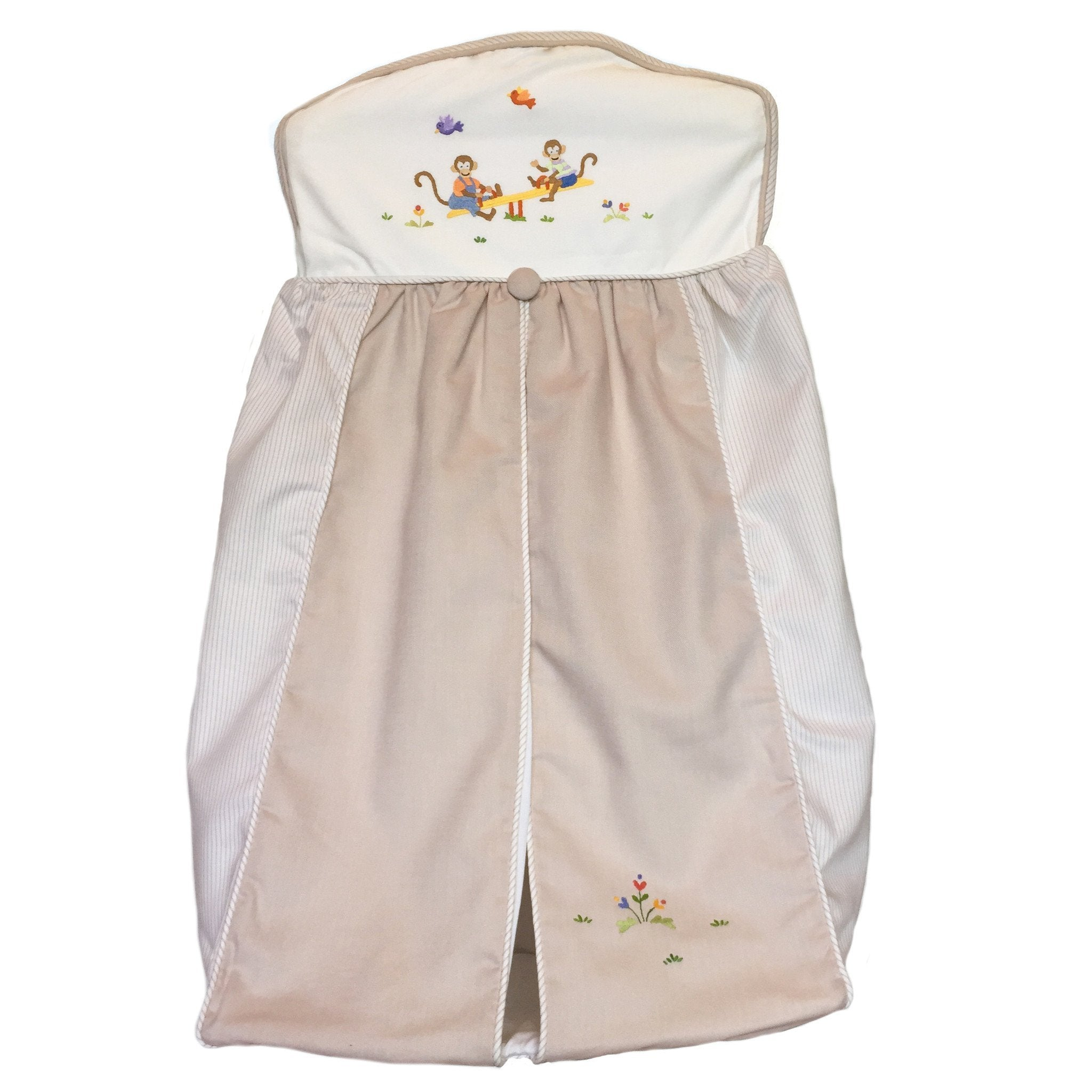 diaper stacker monkey business beige