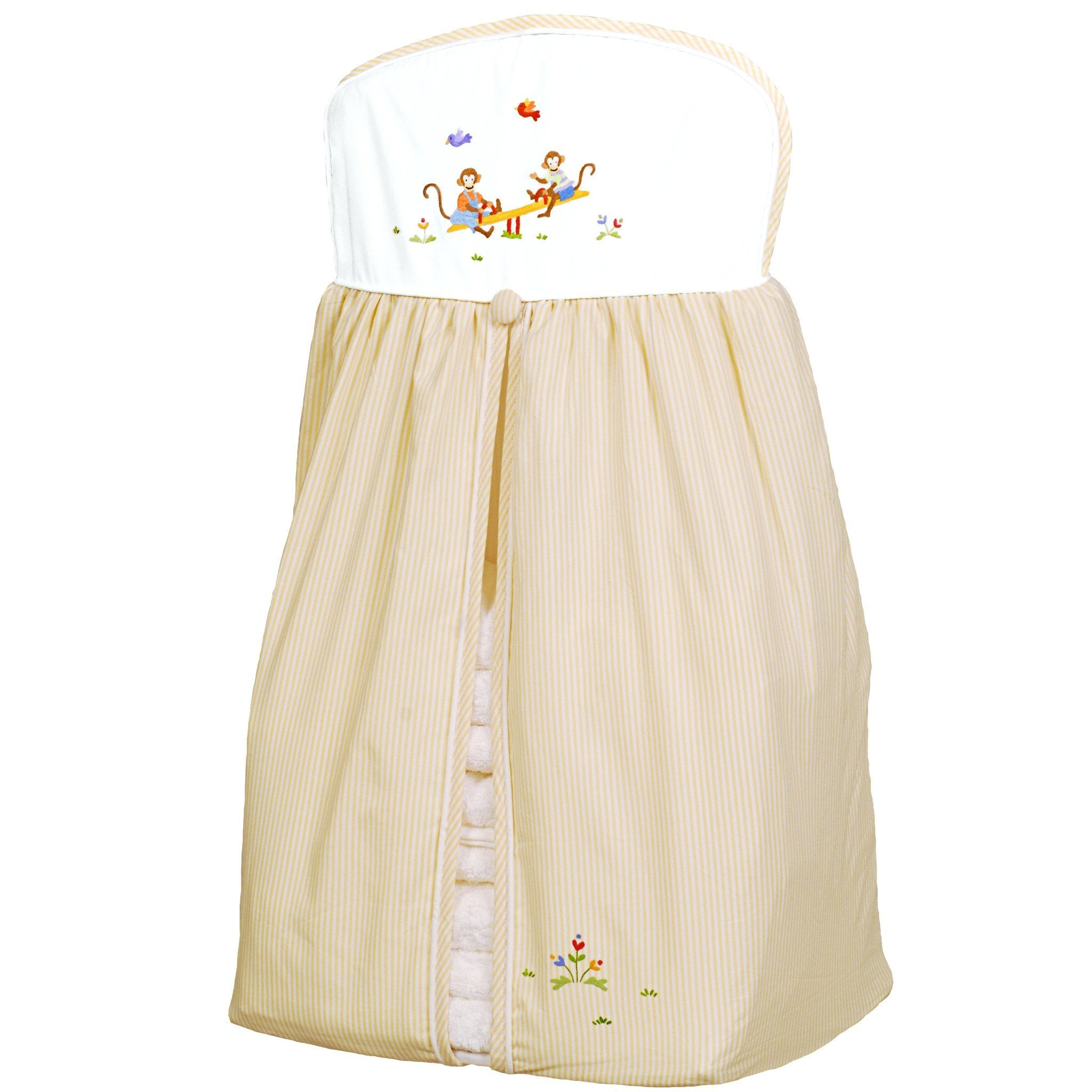 diaper stacker monkey business yellow