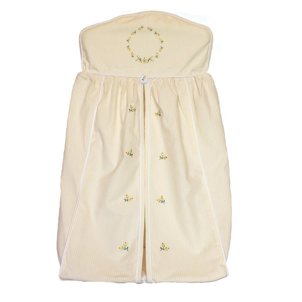 diaper stacker rosebud yellow
